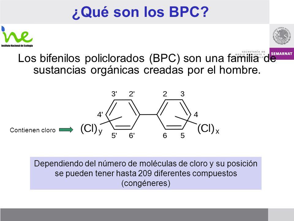 ¿Qué son los BPC Los bifenilos policlorados (BPC) son una familia de sustancias orgánicas creadas por el hombre.