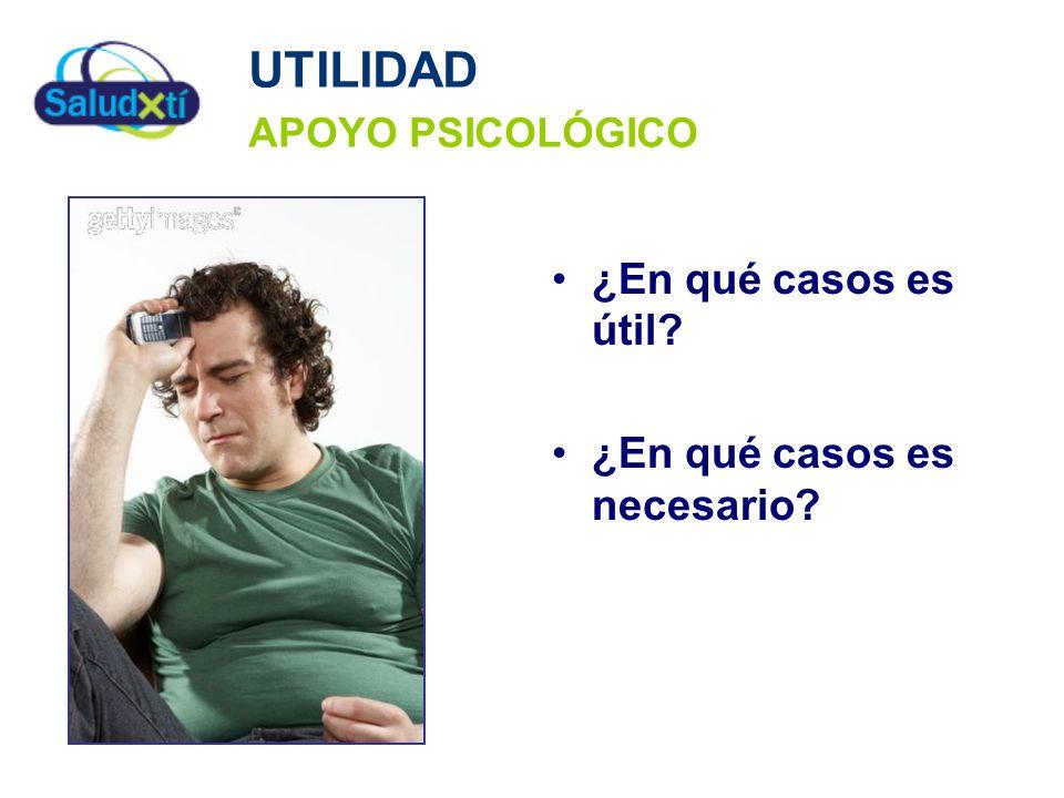 UTILIDAD APOYO PSICOLÓGICO