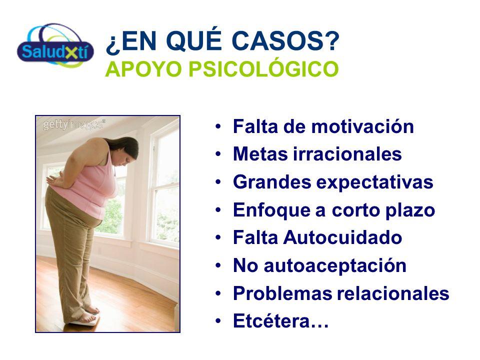 ¿EN QUÉ CASOS APOYO PSICOLÓGICO