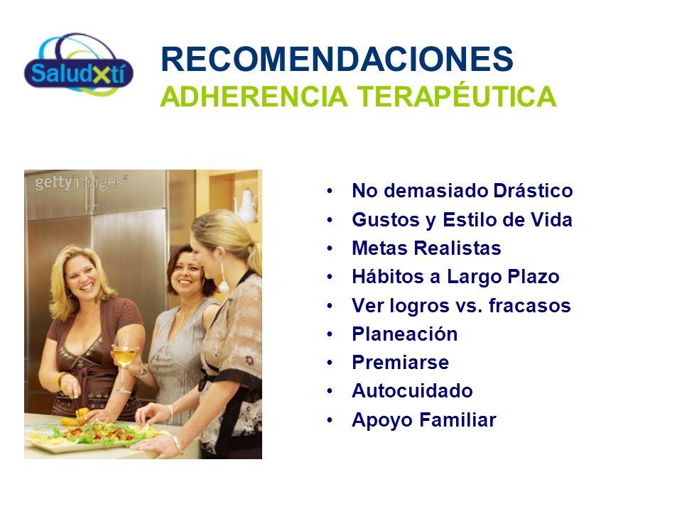 RECOMENDACIONES ADHERENCIA TERAPÉUTICA