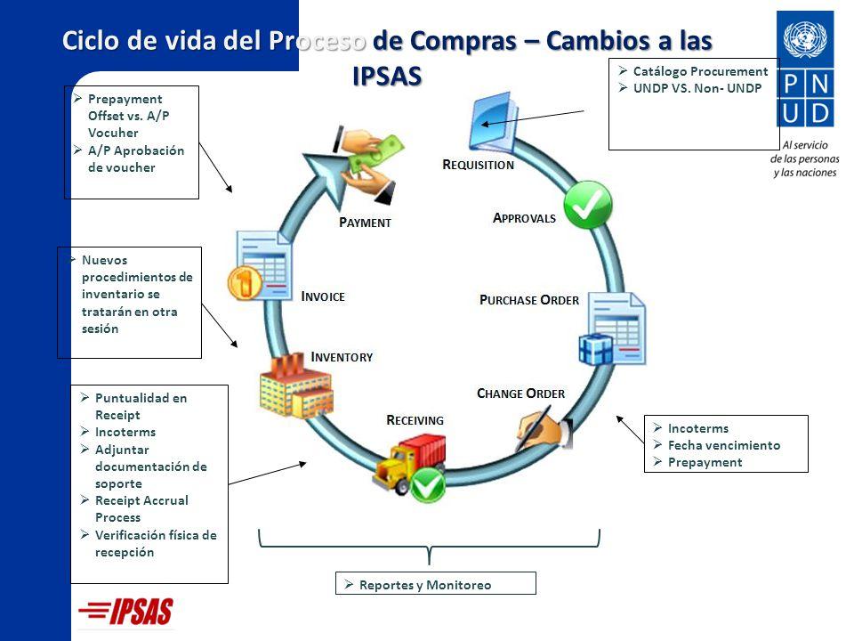 Ciclo de vida del Proceso de Compras – Cambios a las IPSAS