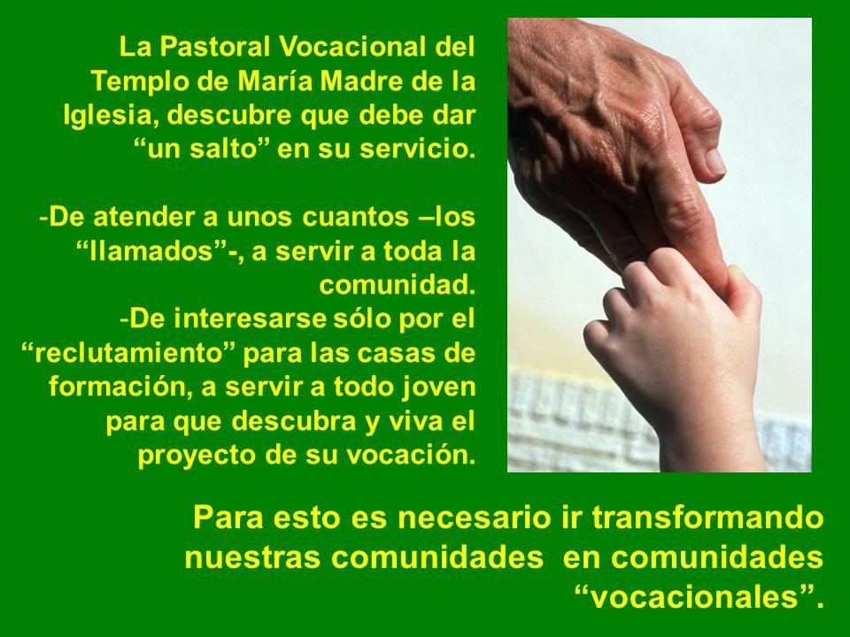 La Pastoral Vocacional del Templo de María Madre de la Iglesia, descubre que debe dar un salto en su servicio.