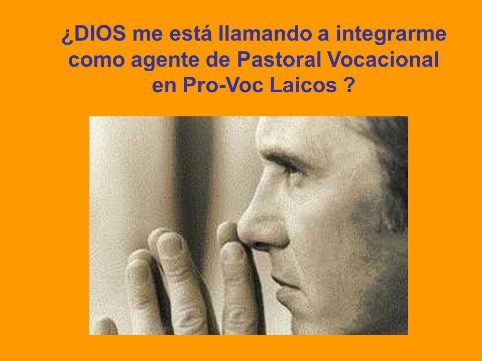 ¿DIOS me está llamando a integrarme como agente de Pastoral Vocacional en Pro-Voc Laicos