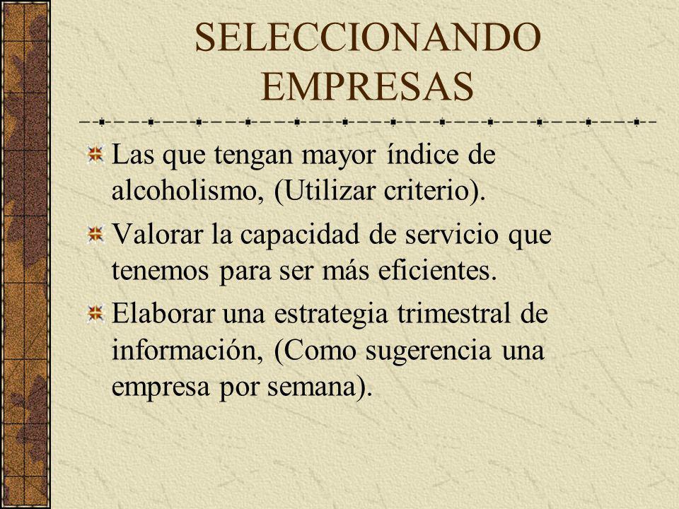 SELECCIONANDO EMPRESAS