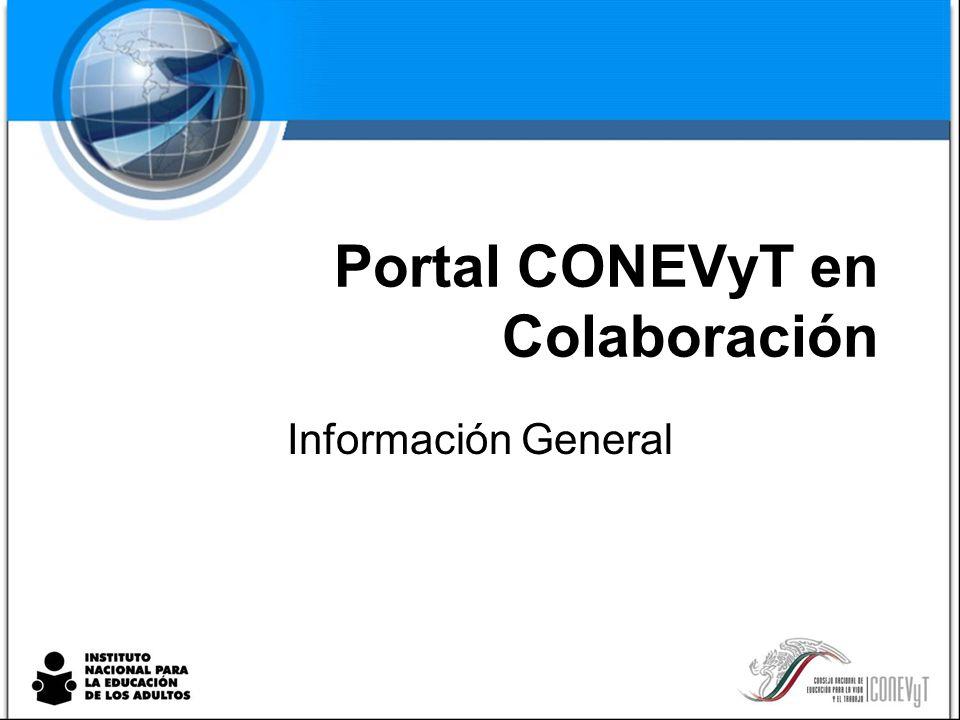 Portal CONEVyT en Colaboración