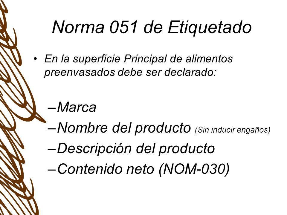 Norma 051 de Etiquetado Marca