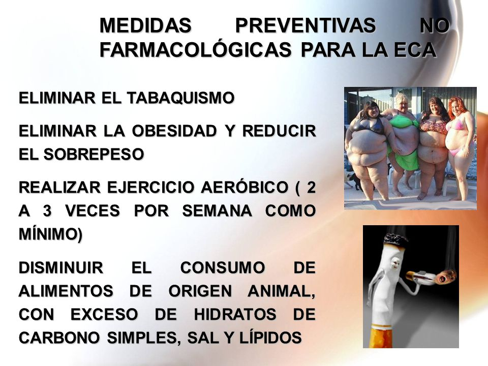 MEDIDAS PREVENTIVAS NO FARMACOLÓGICAS PARA LA ECA