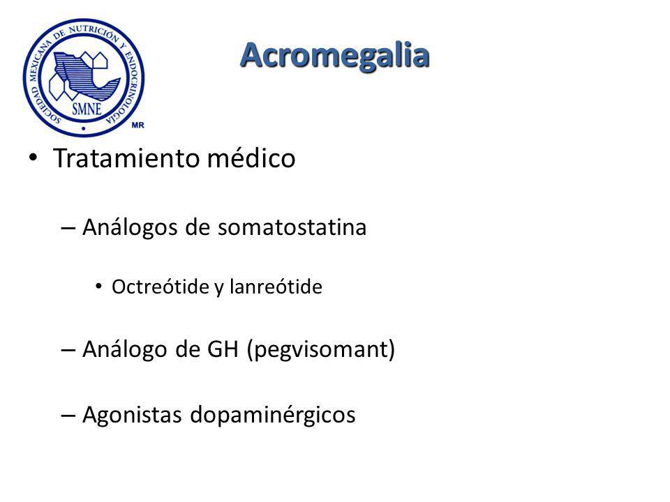 Acromegalia Tratamiento médico Análogos de somatostatina
