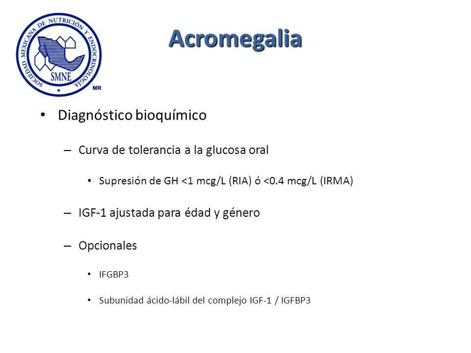 Acromegalia Diagnóstico bioquímico
