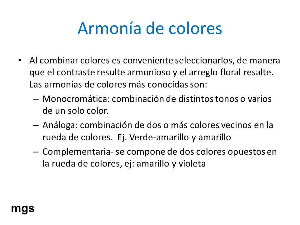 Armonía de colores