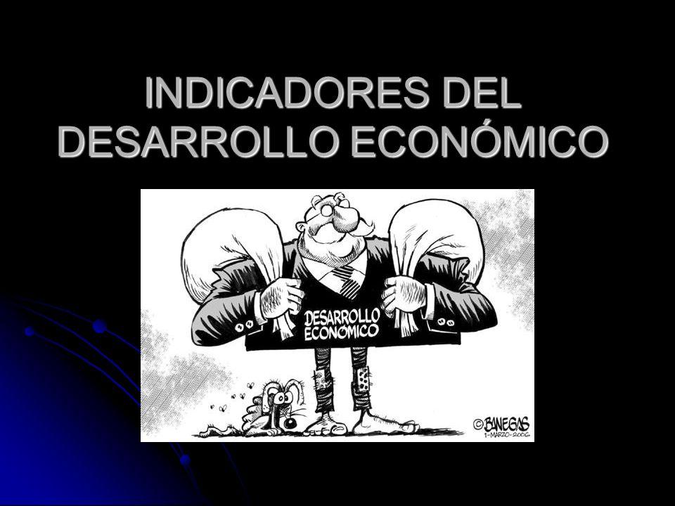 INDICADORES DEL DESARROLLO ECONÓMICO