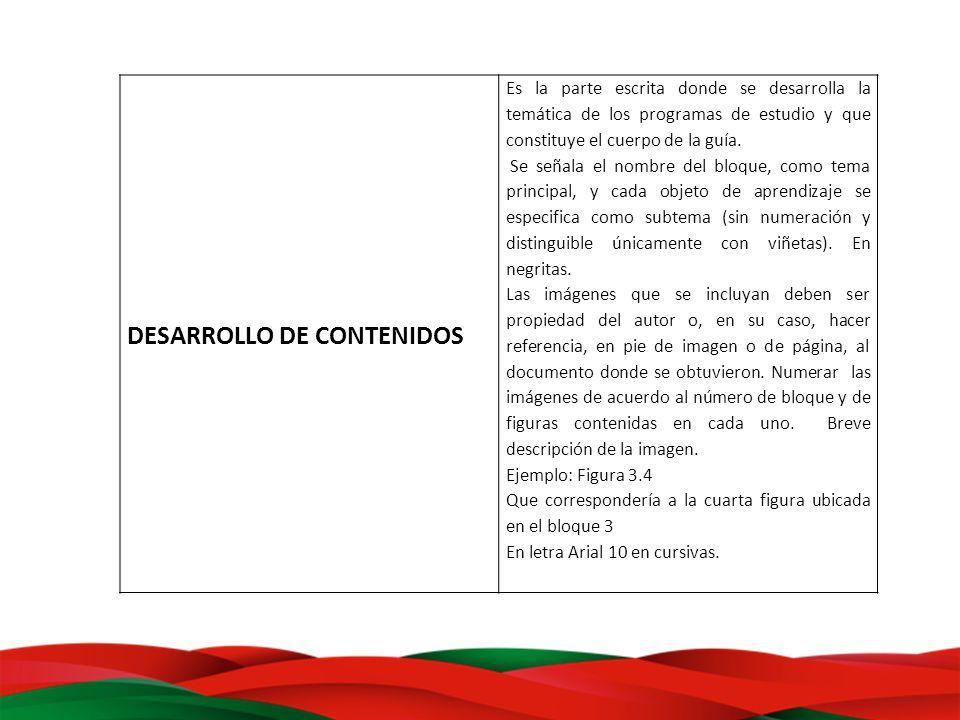 DESARROLLO DE CONTENIDOS