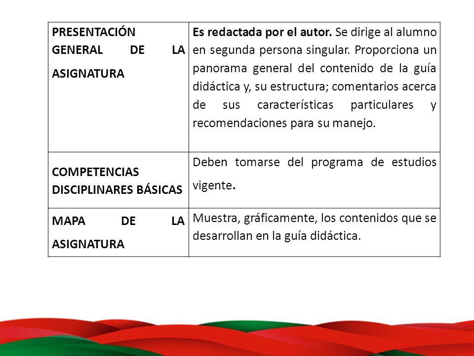 PRESENTACIÓN GENERAL DE LA ASIGNATURA