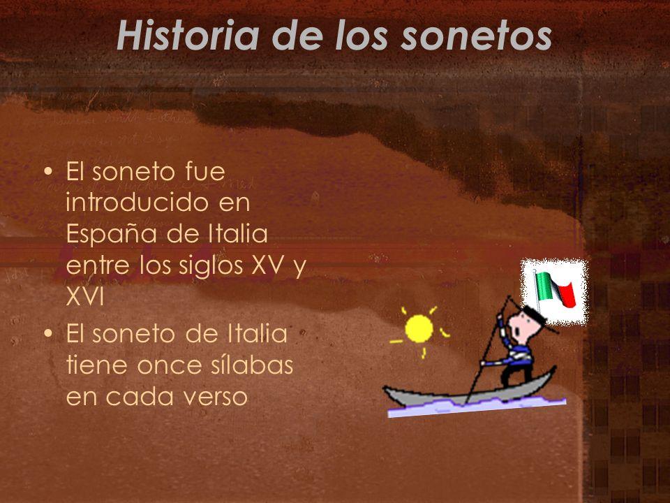 Historia de los sonetos
