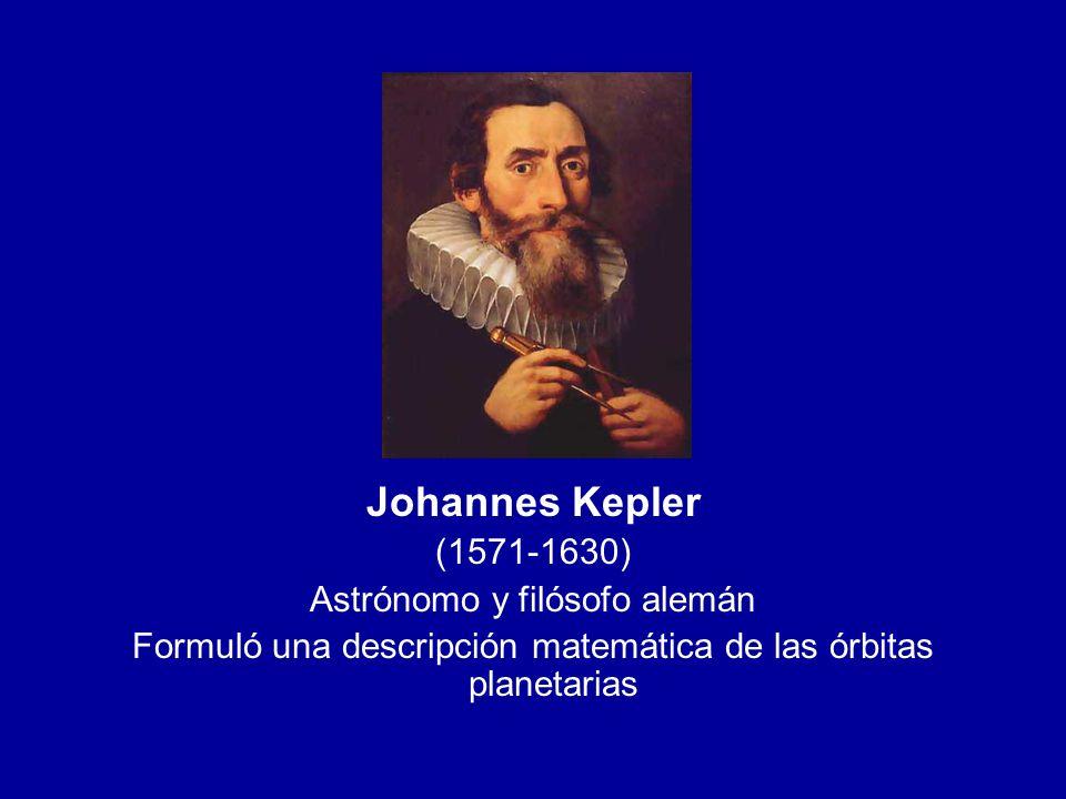 Johannes Kepler (1571-1630) Astrónomo y filósofo alemán