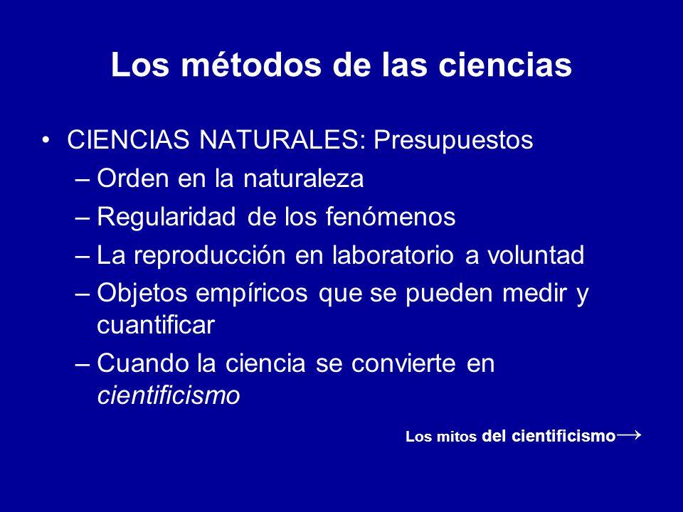 Los métodos de las ciencias