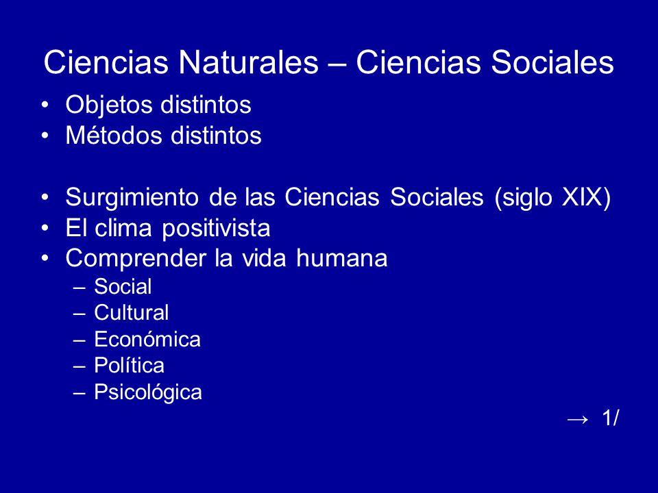 Ciencias Naturales – Ciencias Sociales