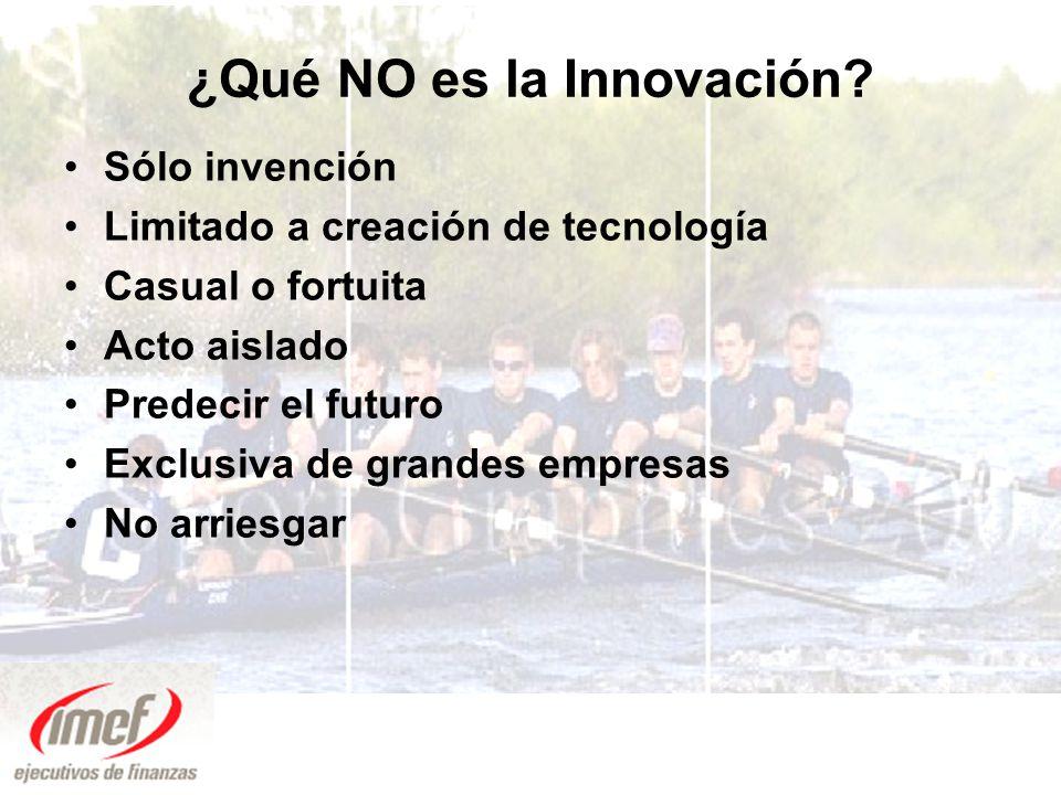 ¿Qué NO es la Innovación