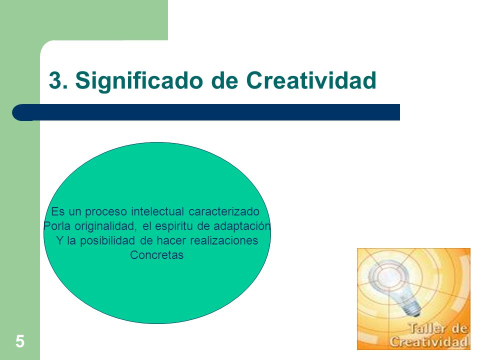 3. Significado de Creatividad