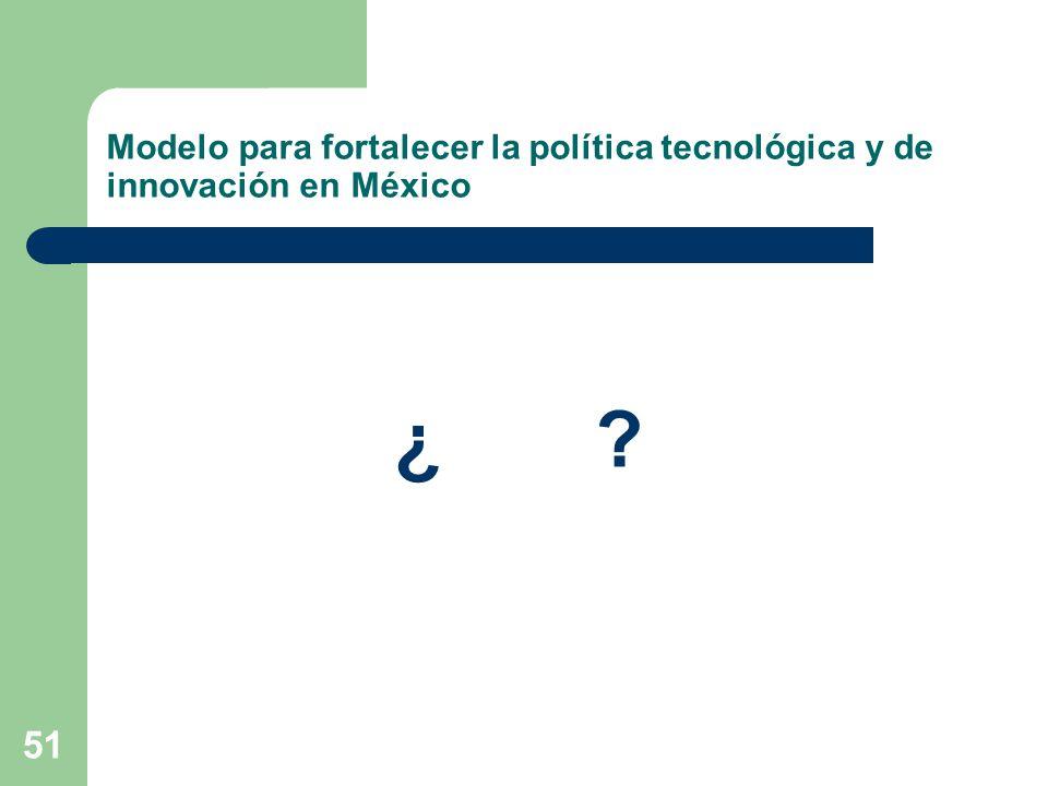Modelo para fortalecer la política tecnológica y de innovación en México