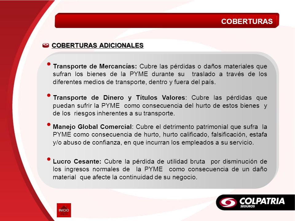 COBERTURAS COBERTURAS ADICIONALES