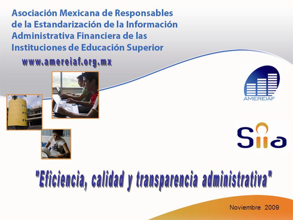 Eficiencia, calidad y transparencia administrativa