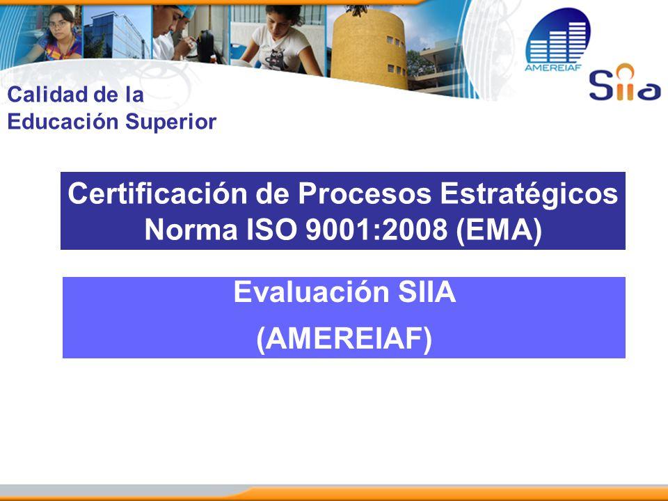 Certificación de Procesos Estratégicos