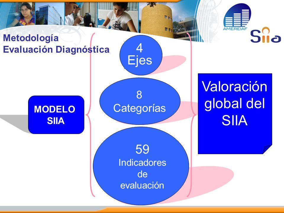 Valoración global del SIIA 4 Ejes 59 8 Categorías Metodología