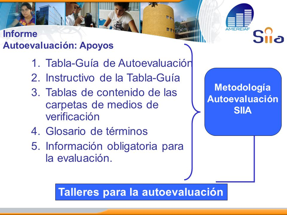 Tabla-Guía de Autoevaluación Instructivo de la Tabla-Guía