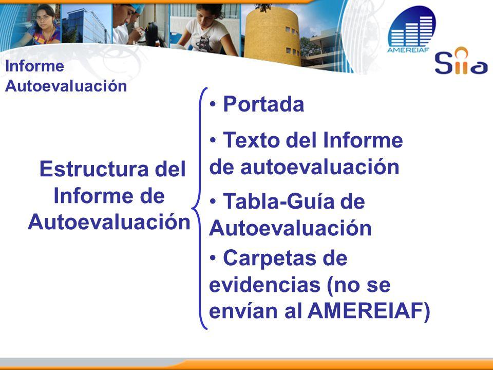 Estructura del Informe de Autoevaluación