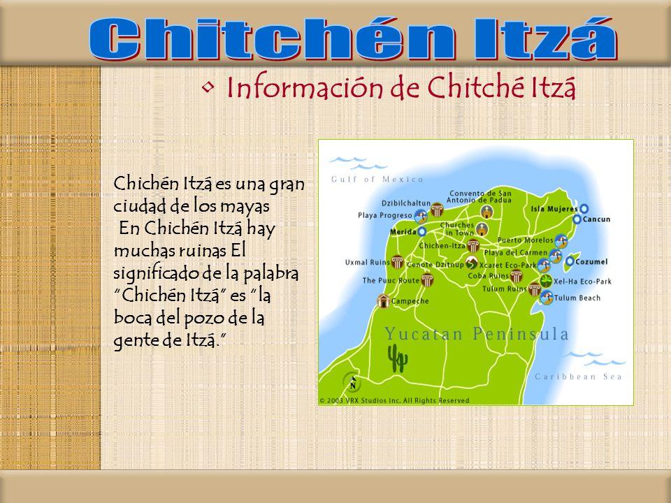 Información de Chitché Itzá