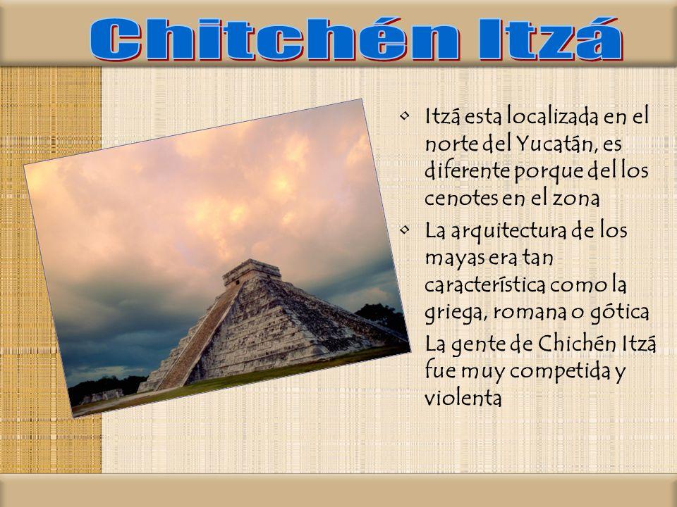 Chitchén Itzá Itzá esta localizada en el norte del Yucatán, es diferente porque del los cenotes en el zona.
