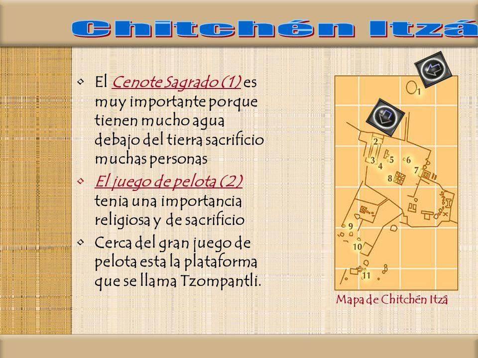 Chitchén Itzá El Cenote Sagrado (1) es muy importante porque tienen mucho agua debajo del tierra sacrificio muchas personas.