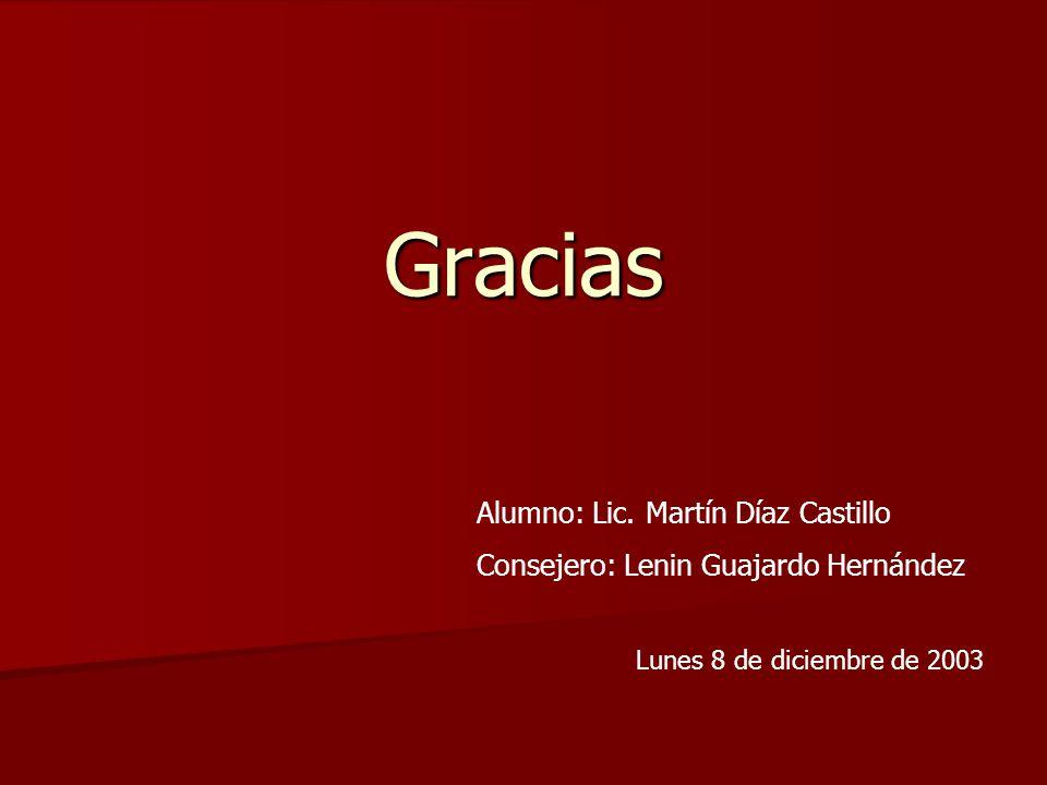 Gracias Alumno: Lic. Martín Díaz Castillo