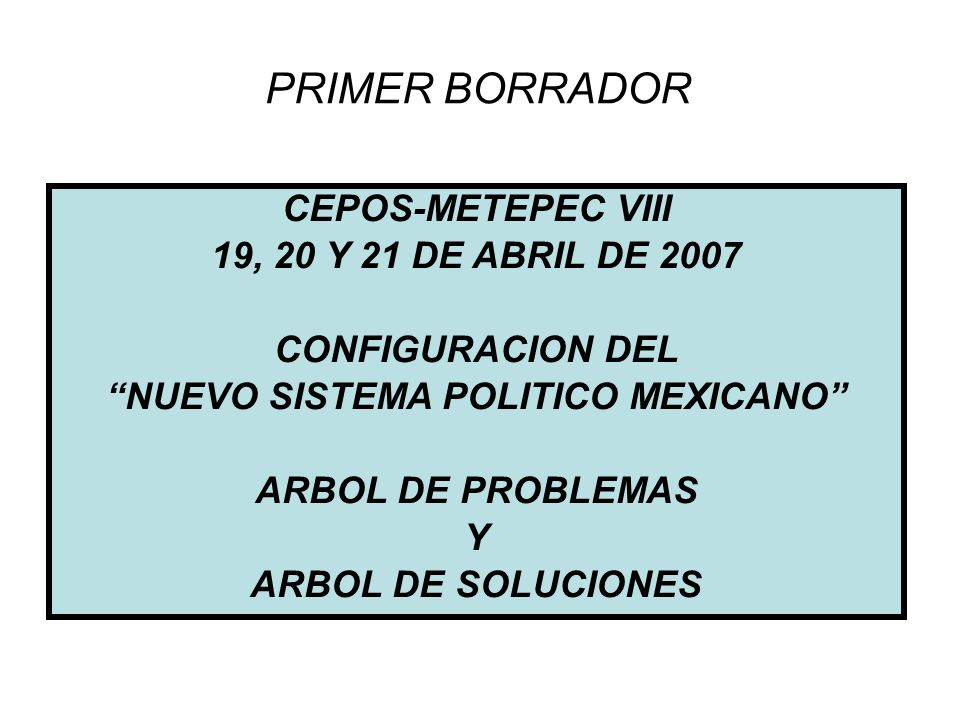 NUEVO SISTEMA POLITICO MEXICANO