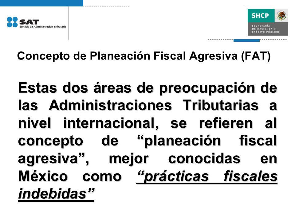 Concepto de Planeación Fiscal Agresiva (FAT)