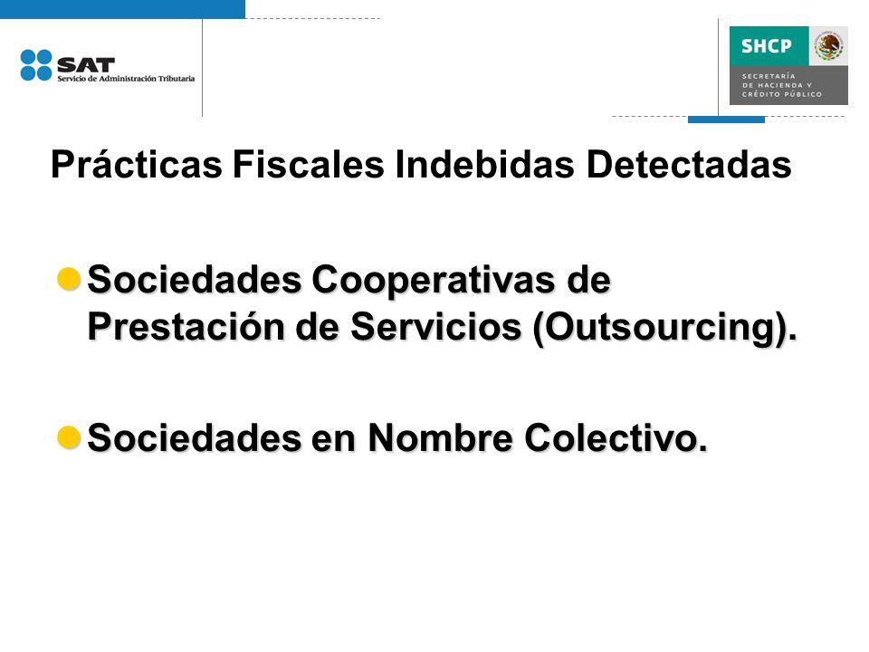 Prácticas Fiscales Indebidas Detectadas