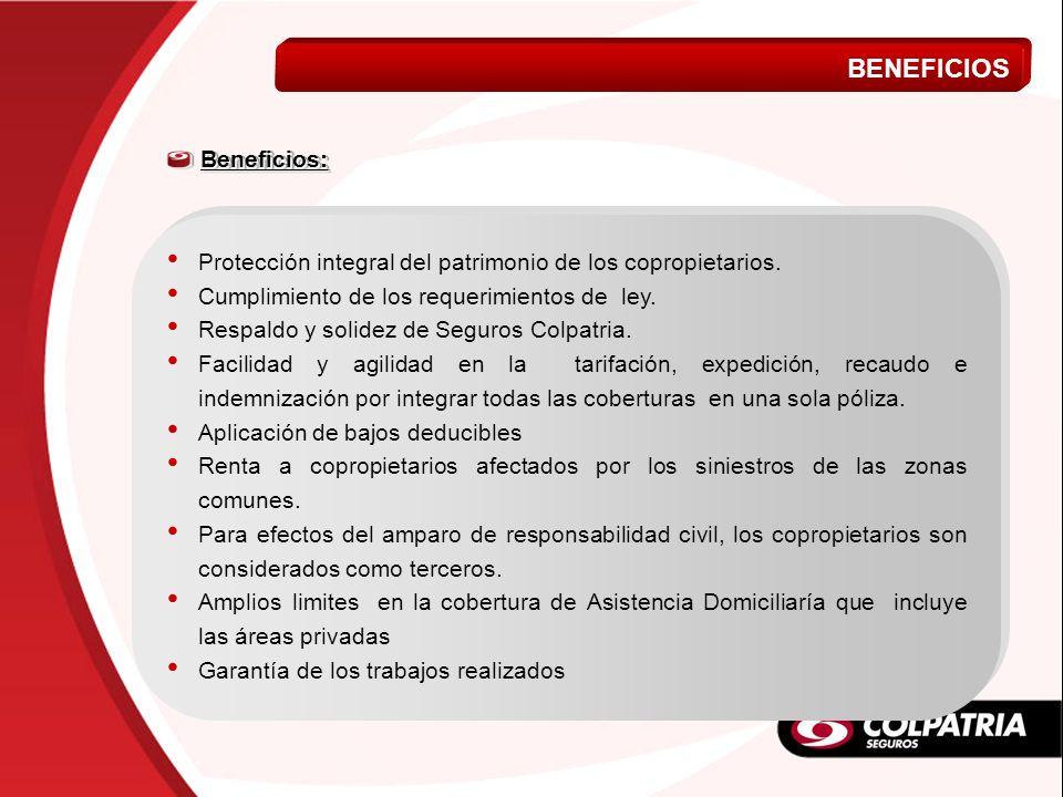 BENEFICIOS VIDA A MI MEDIDA Beneficios:
