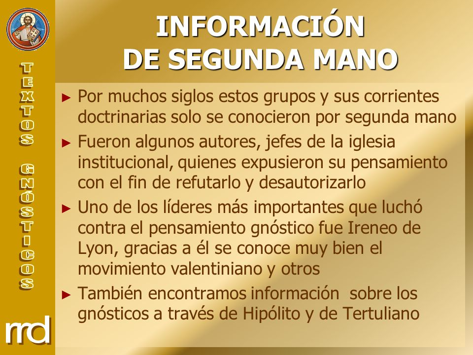 INFORMACIÓN DE SEGUNDA MANO