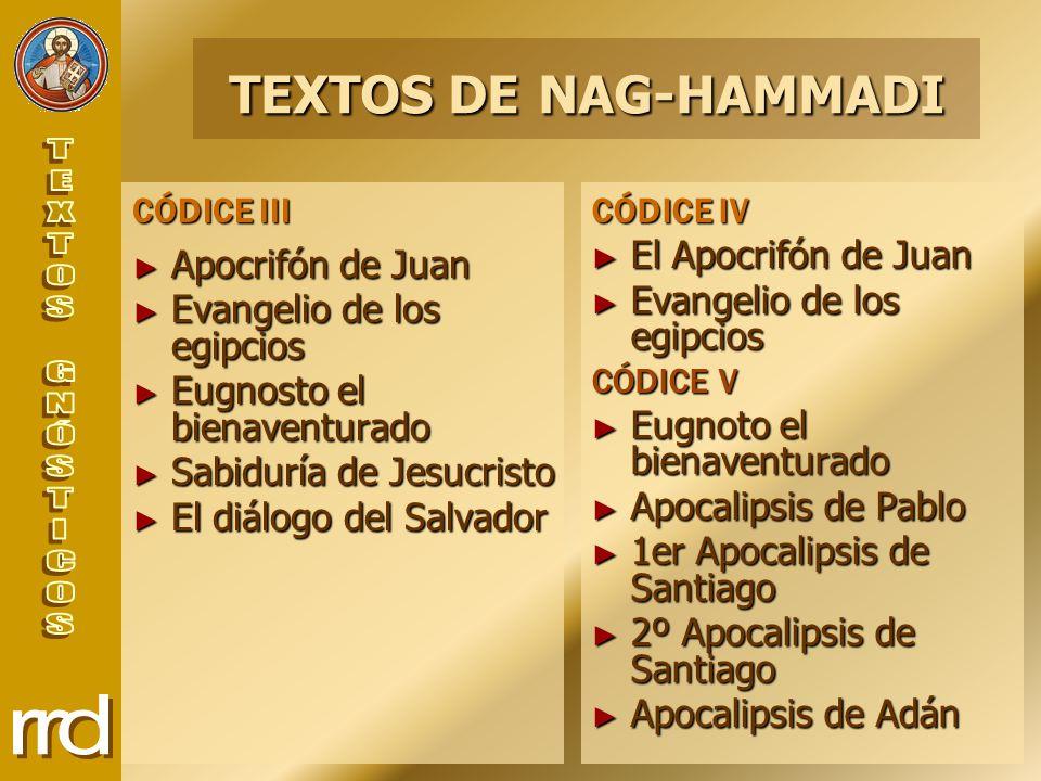 TEXTOS DE NAG-HAMMADI Apocrifón de Juan Evangelio de los egipcios