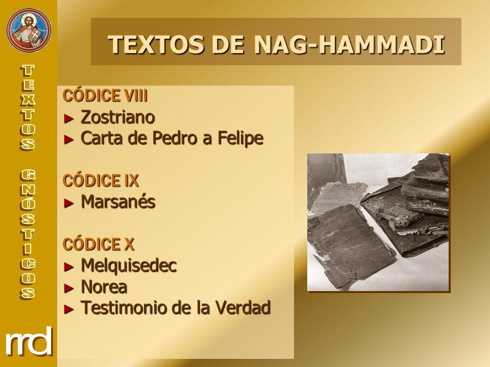 TEXTOS DE NAG-HAMMADI CÓDICE VIII Zostriano Carta de Pedro a Felipe