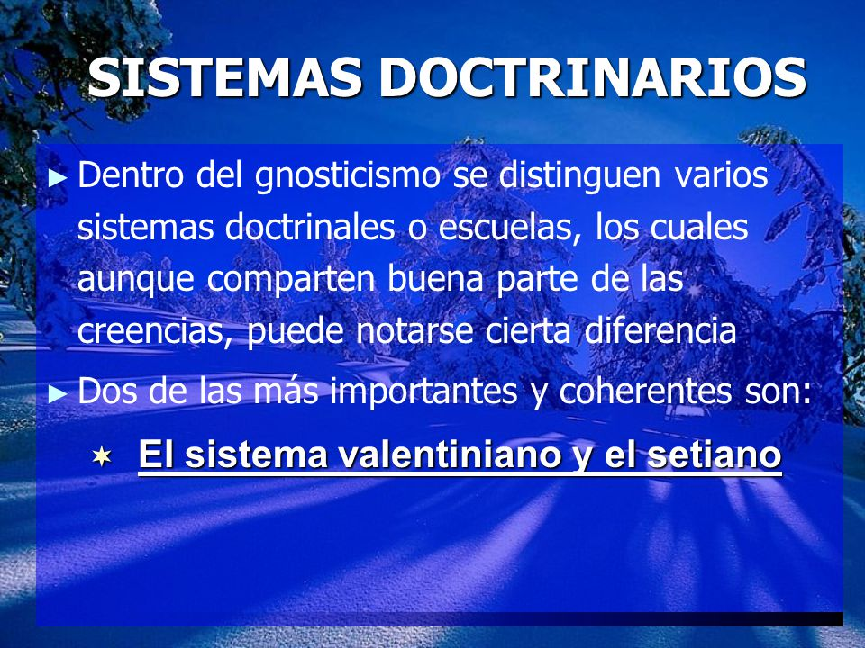 SISTEMAS DOCTRINARIOS