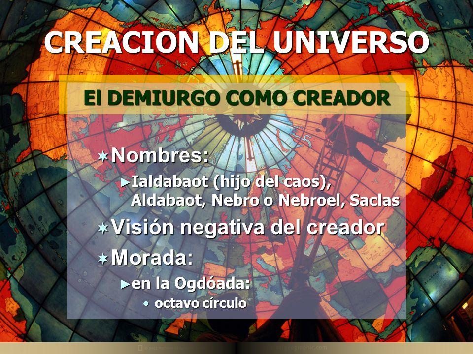El DEMIURGO COMO CREADOR