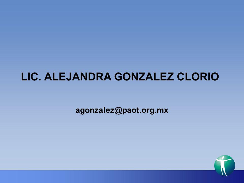 LIC. ALEJANDRA GONZALEZ CLORIO