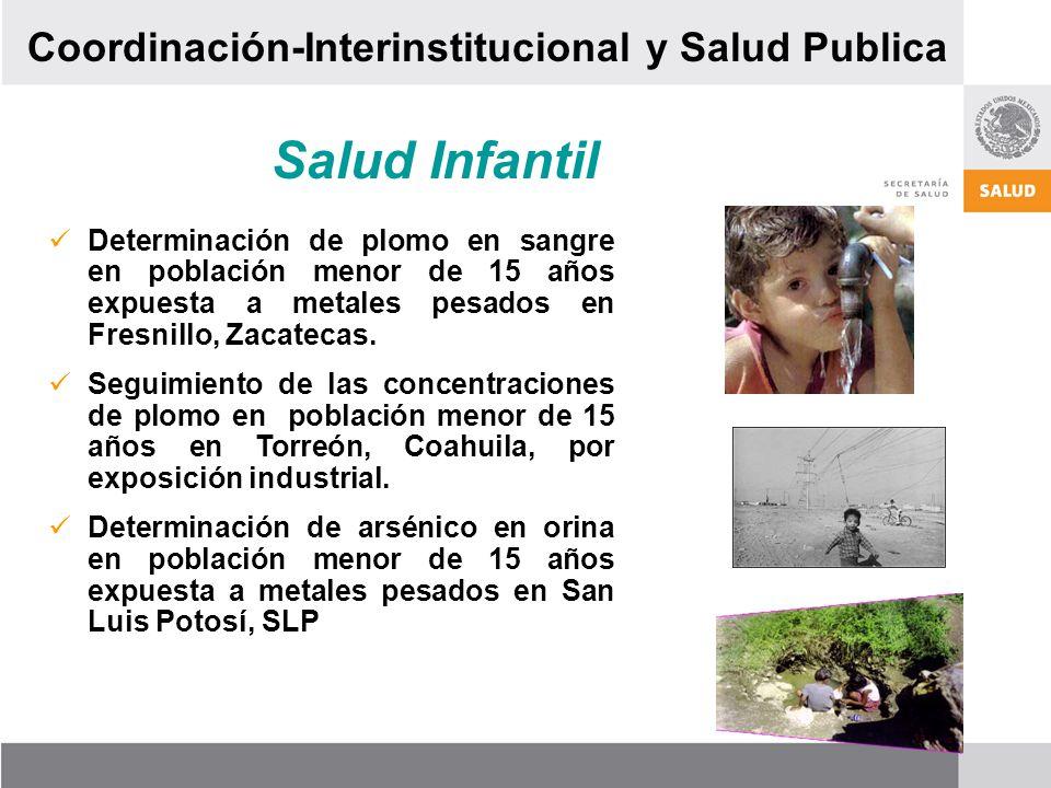 Salud Infantil Coordinación-Interinstitucional y Salud Publica