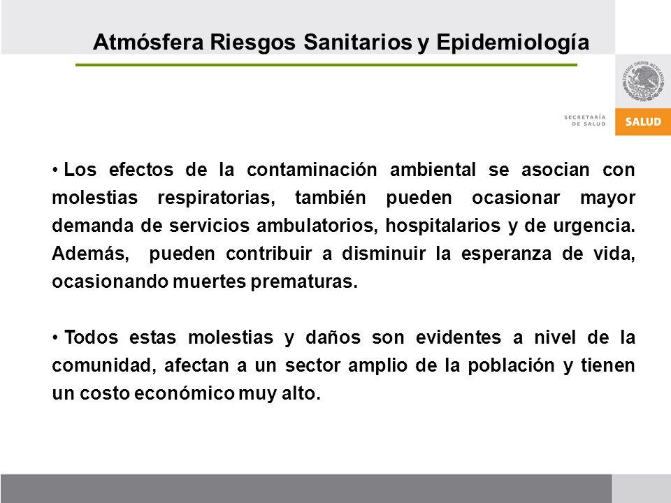 Atmósfera Riesgos Sanitarios y Epidemiología