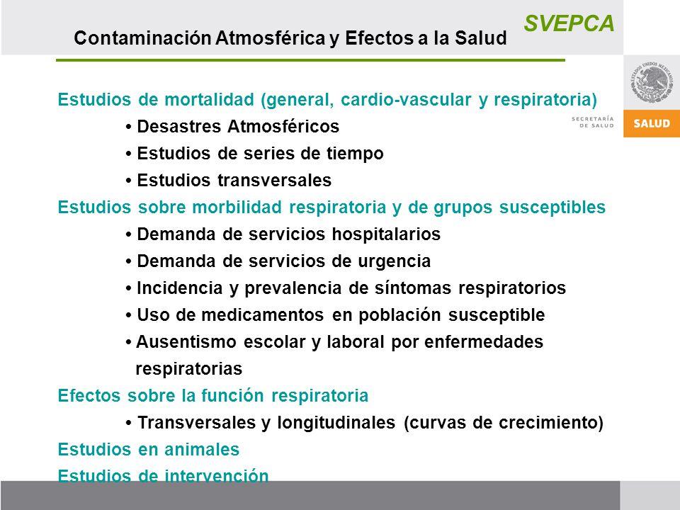 SVEPCA Contaminación Atmosférica y Efectos a la Salud
