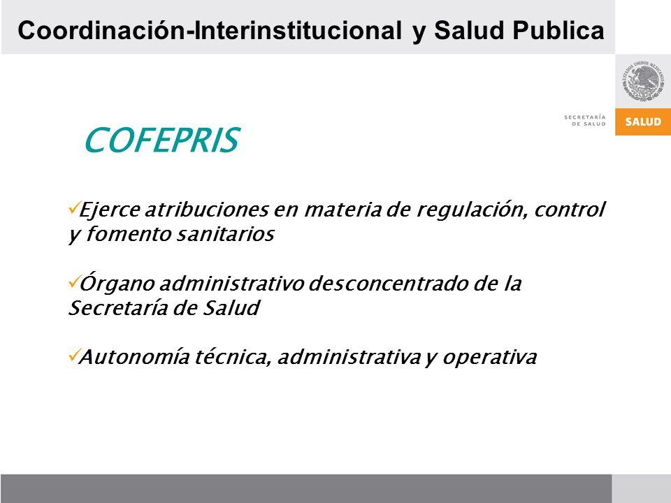 COFEPRIS Coordinación-Interinstitucional y Salud Publica