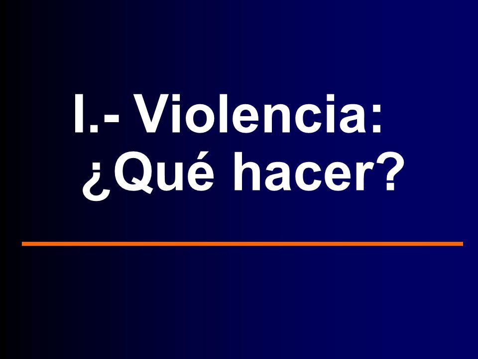 I.- Violencia: ¿Qué hacer