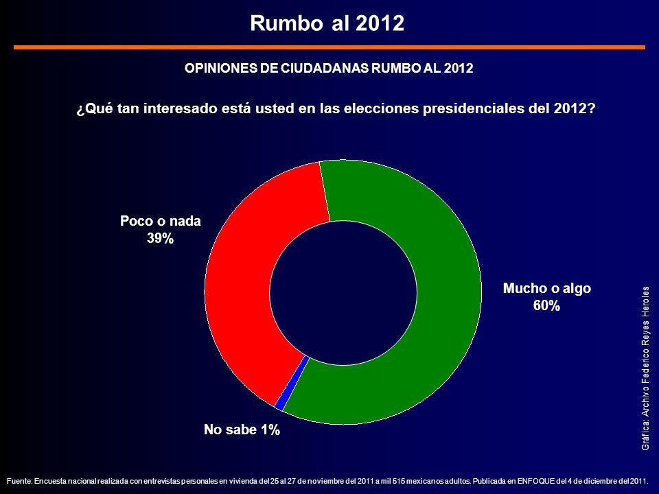 OPINIONES DE CIUDADANAS RUMBO AL 2012